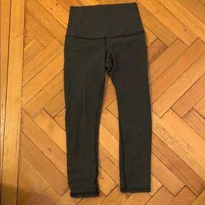 Dark Grey Cropped Lululemon Leggings - Never Worn